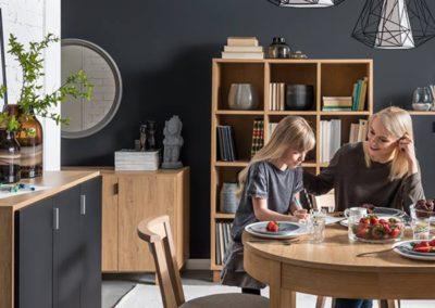 Simple Cupboard - Black & Oak