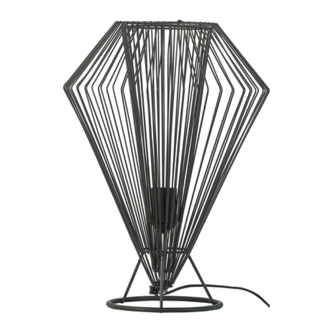 Cesto High Table Lamp Black