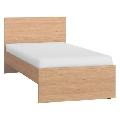 Simple Single Bed - Oak