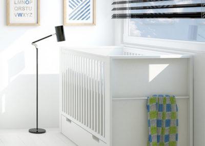Milk Cot Bed with Storage Drawer