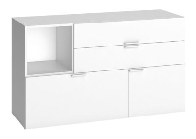4You Low Chest of Drawers - White