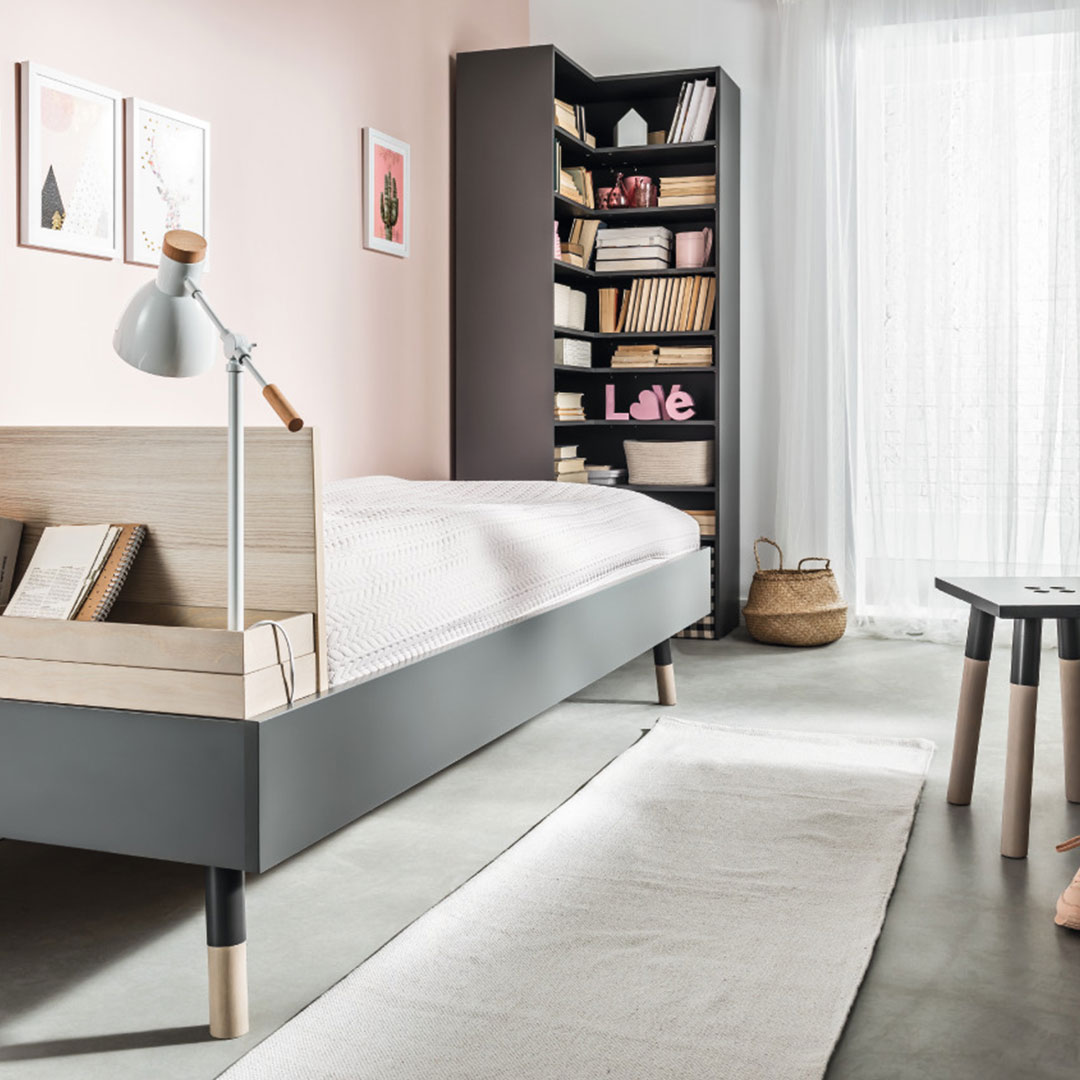 Vox Lori Single Bed & Lori Corner Bookcase