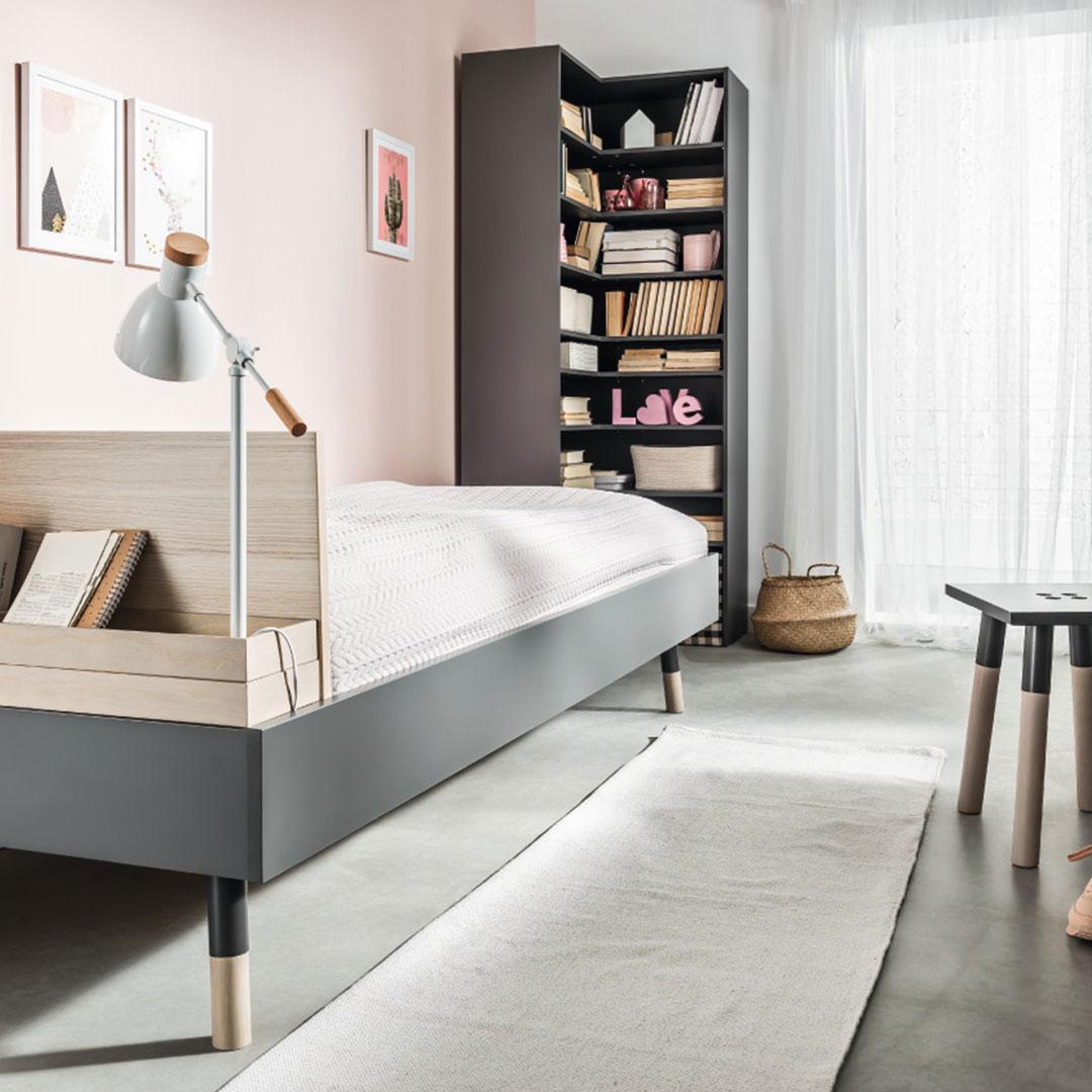 Vox Lori Single Bed & Lori Corner Bookcase