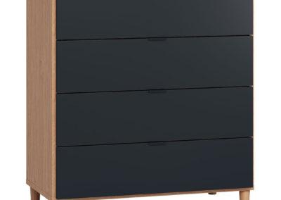 Vox Simple Dresser with Functional Slat - Black