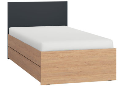 Vox Simple Single Bed - Black with Storage Drawer