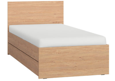 Vox Simple Single Bed - Oak with Storage Drawer