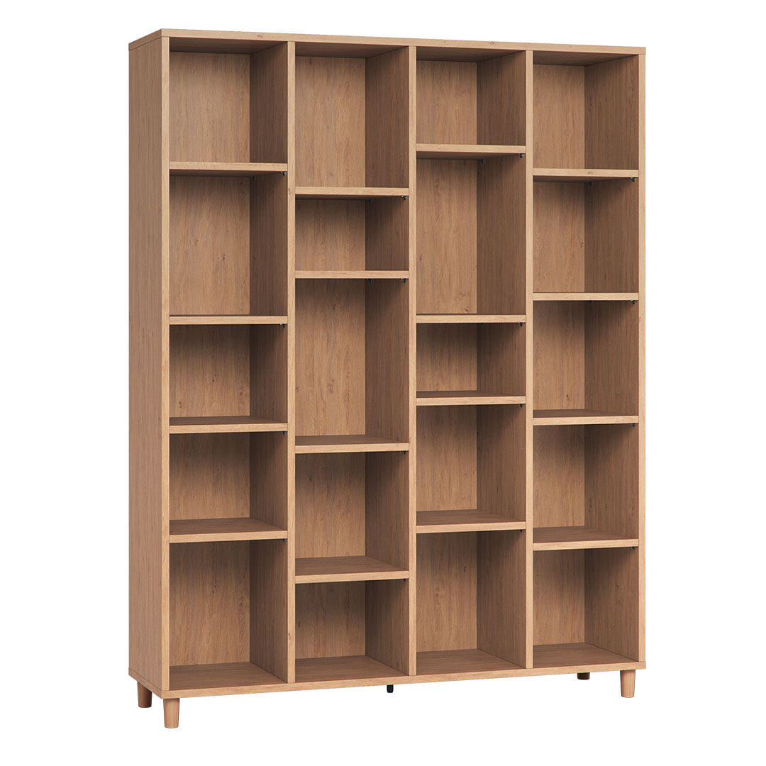 Vox Simple Wide Bookcase Oak
