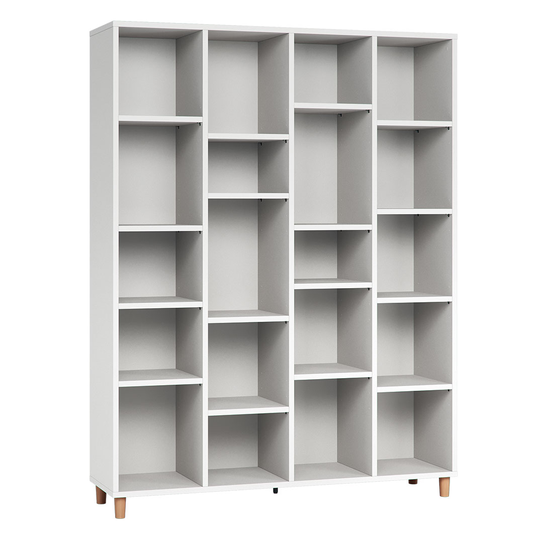 Vox Simple Wide Bookcase - White