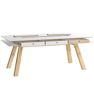 4You 200 x 100 Dining Table- white
