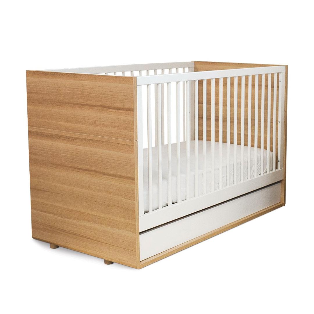 Evolve Cot Bed – Oak & White