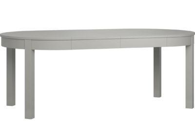 Simple Round Extendable Table - Grey