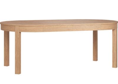 Simple Round Extendable Table - Oak