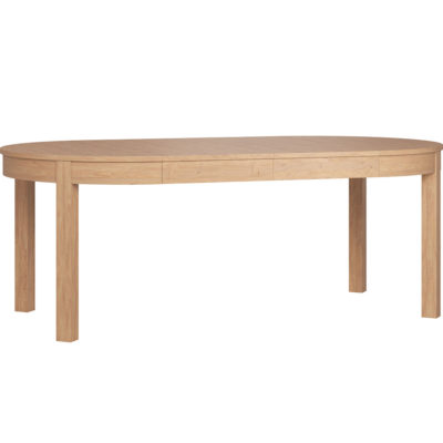 Simple Round Extendable Table - Oak