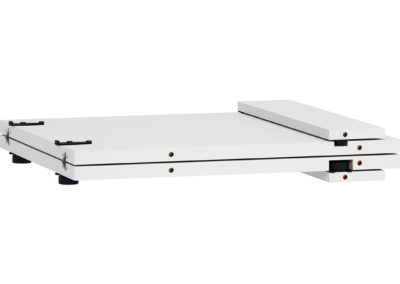 Simple Round Table Extension Panel - White (Folded)