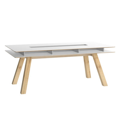 4You Table 200x100 - White excl Drawers