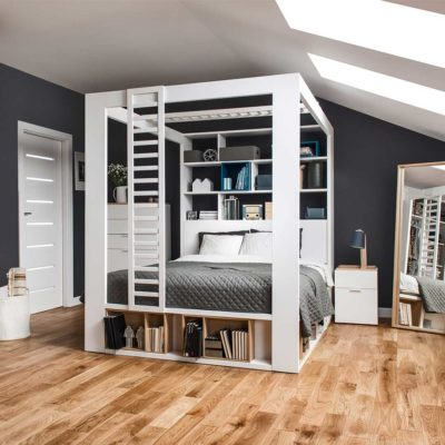 4You Double Bed with Canopy & Shelves