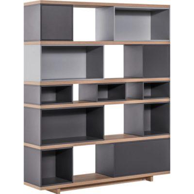 Balance Dark Wide Bookcase