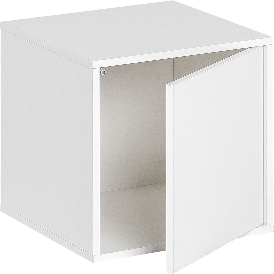 Balance Medium Box with Door - White