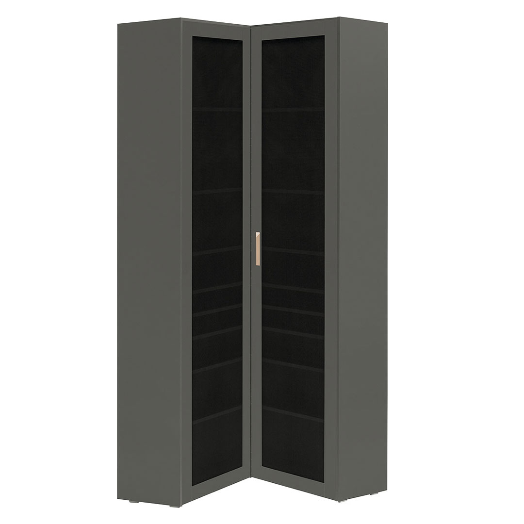 Vox Lori Corner Bookcase with Openwork Door