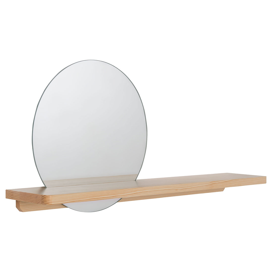 Vox Sense Round Mirror with Shelf