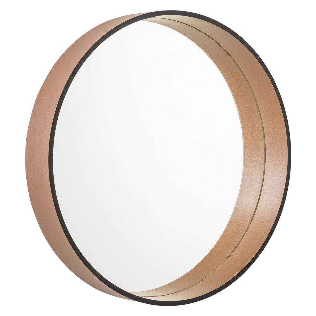Vox Scandi Round Wall Mirror - Black