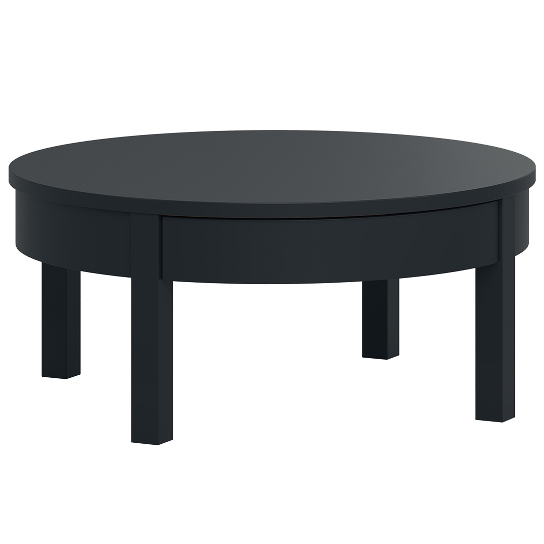 Simple Low Coffee Table - Black