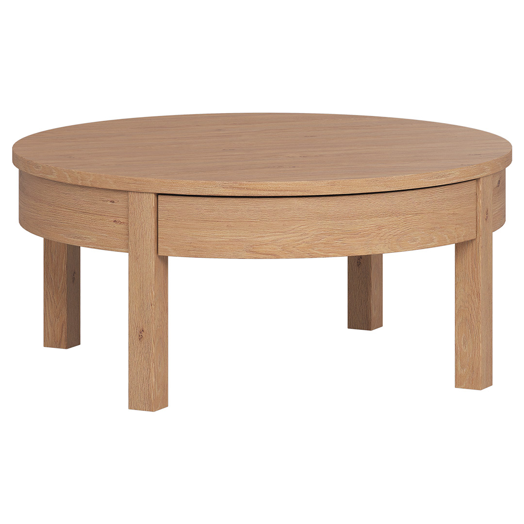 Simple Low Coffee Table - Oak