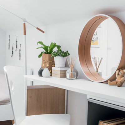 Scandi Round Wall Mirror