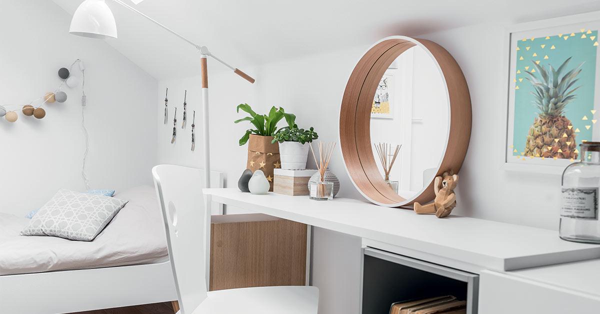 Scandi Round Wall Mirror - Black | Vox Furniture South Africa