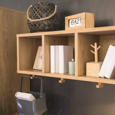 Simple Wall Shelf with Hooks