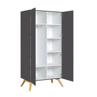 Mitra Two-Door Wardrobe - Graphite