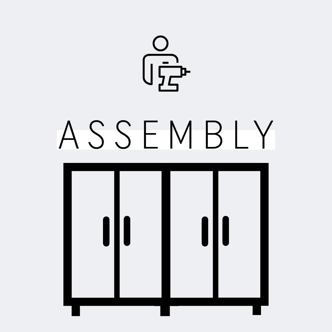 Four-Door Wardrobe Assembly