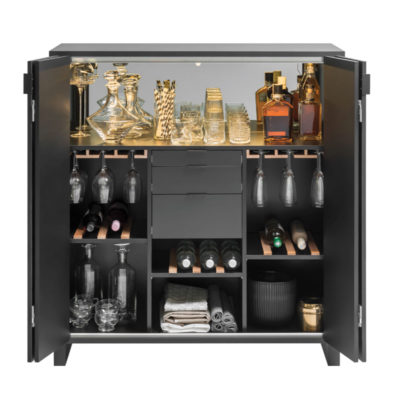 Simple Drinks Cabinet - Black