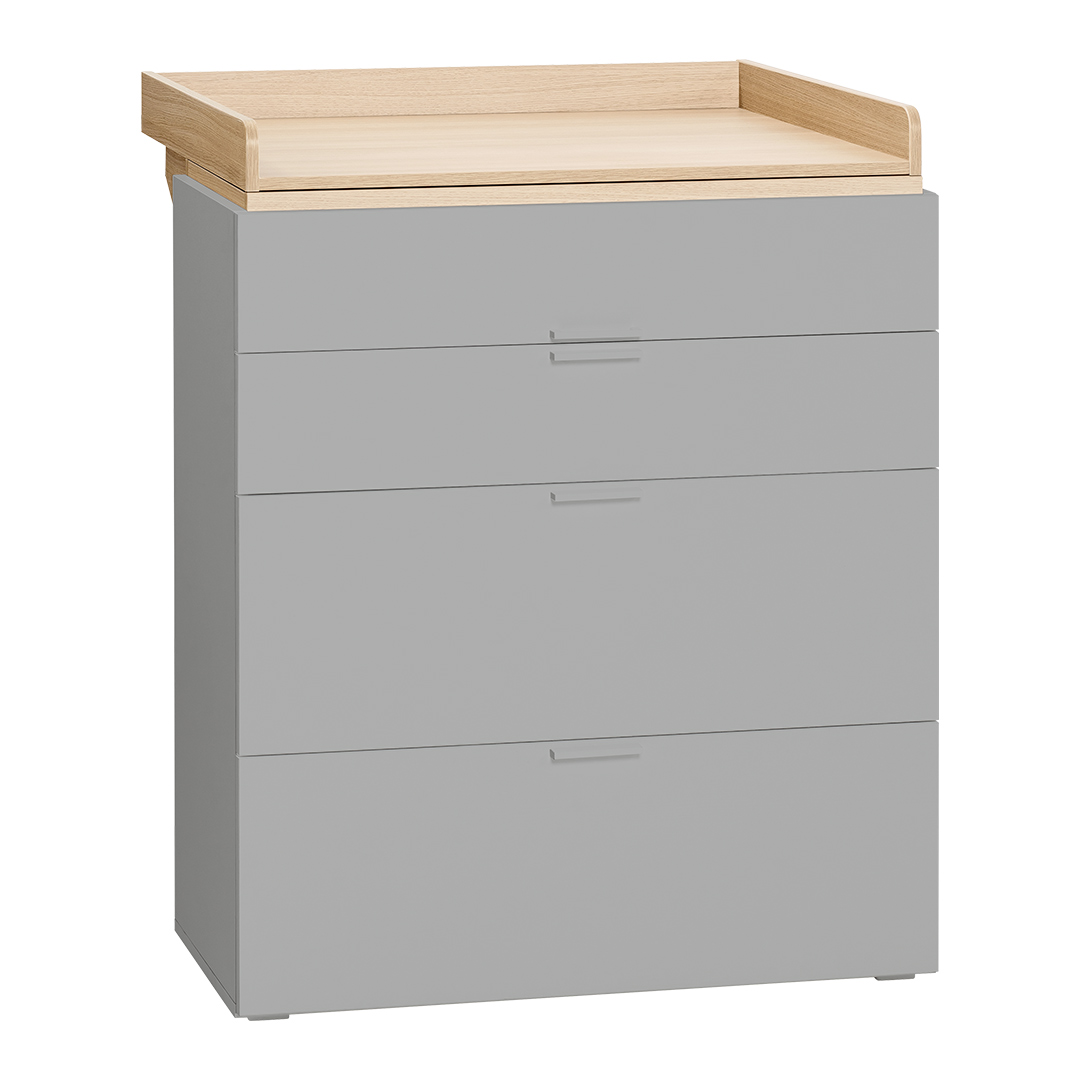 4You Compactum with Changer - Grey & Oak