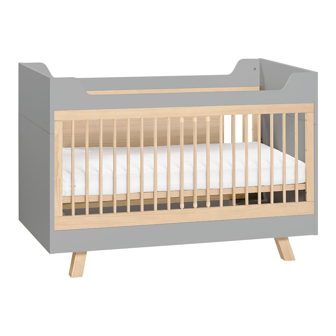 4You Convertible Cot Bed - Grey & Oak