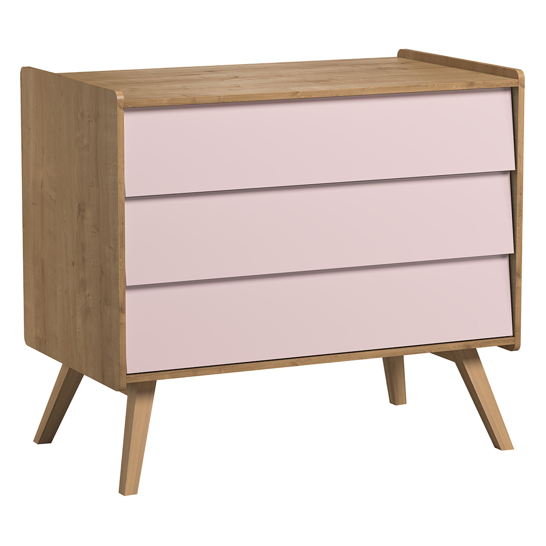 Vintage Compactum without Changer - Oak & Pink