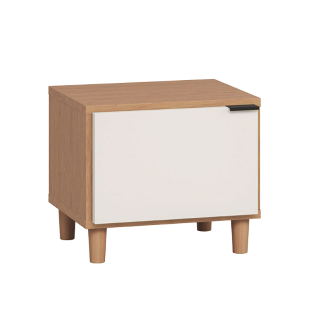 Simple Nightstand - Oak & White