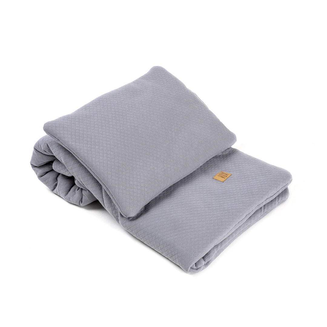 Baby Bedding Set 100x80 - Grey