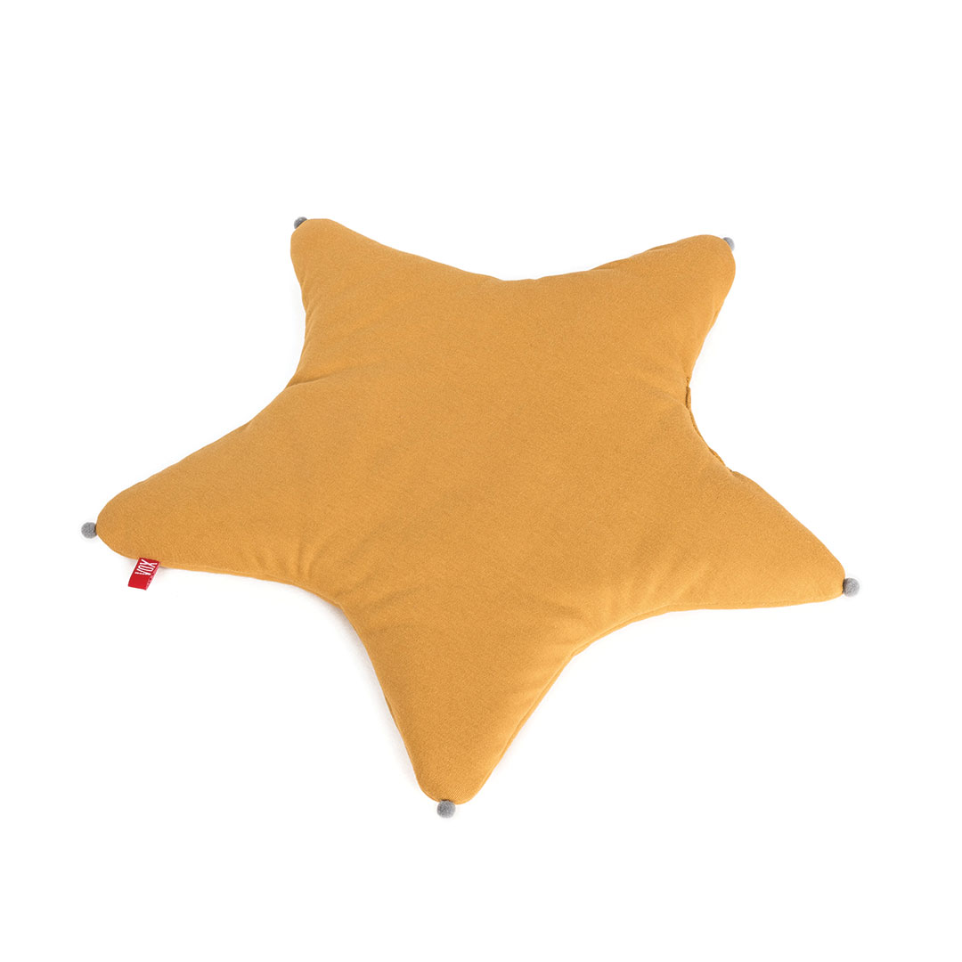 Star Baby Pillow - Mustard