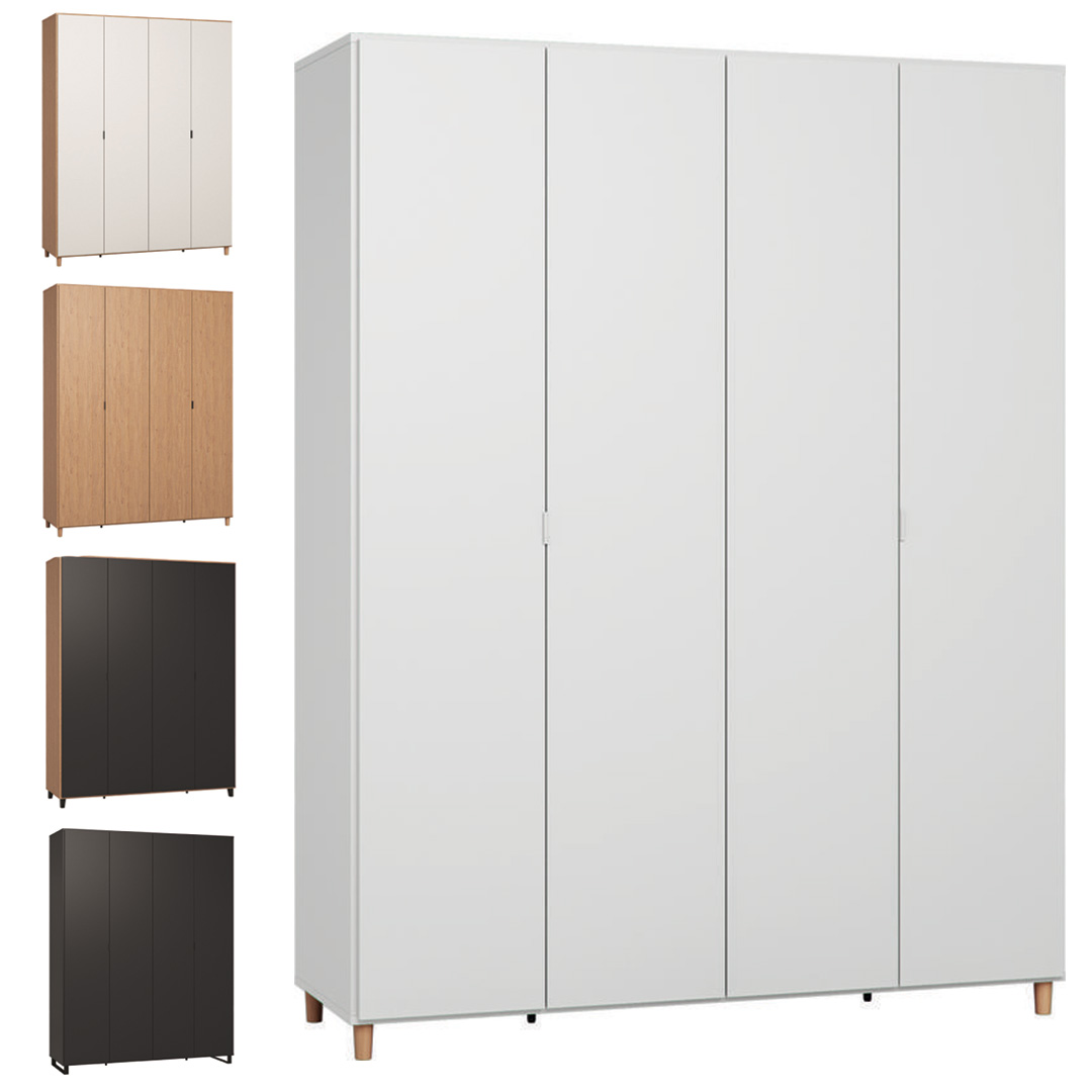 Simple Four-Door Wardrobe