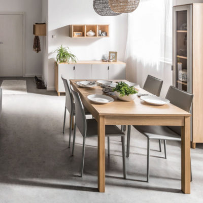 Simple Rectangular Extendable Table & Sideboard