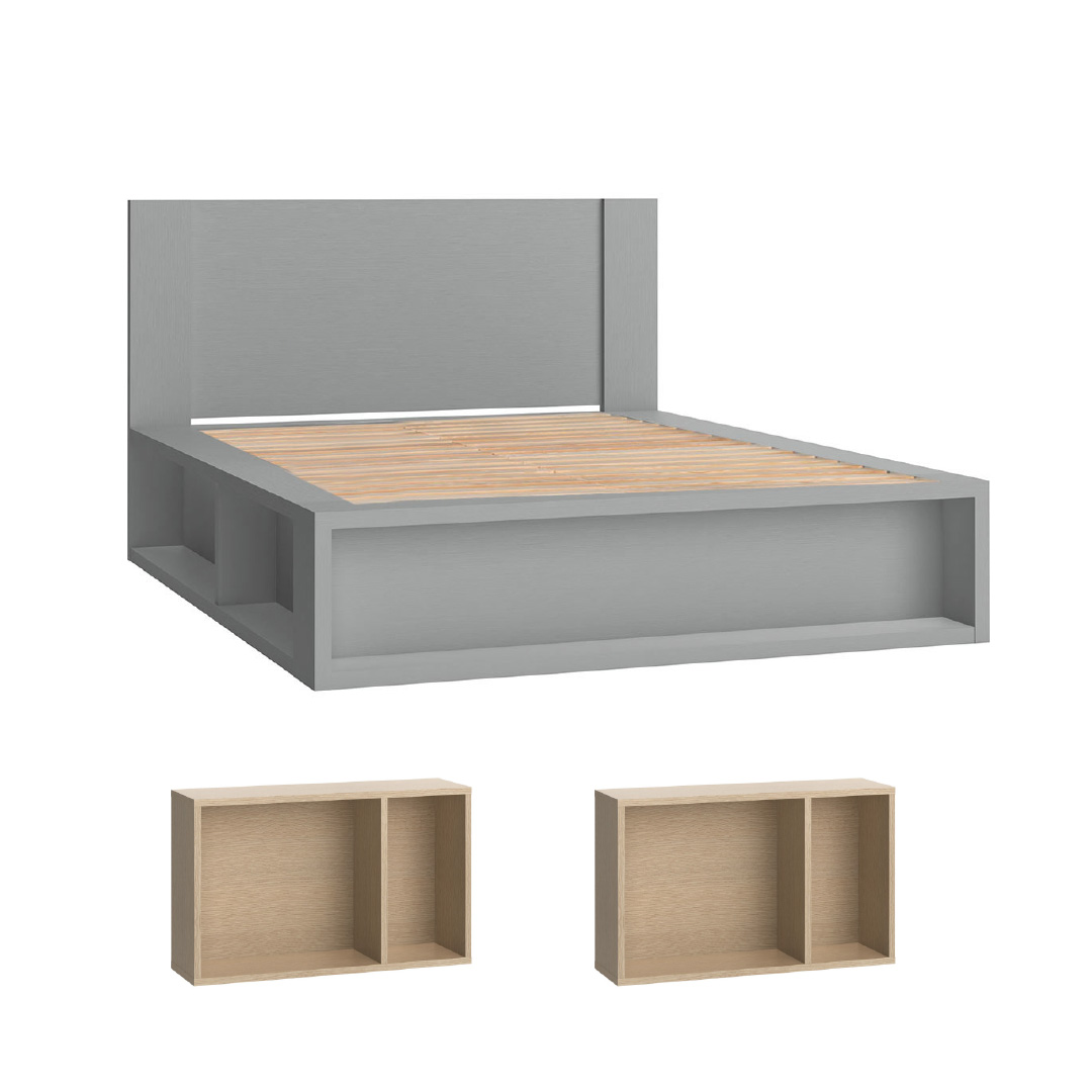 4You double bed grey combo