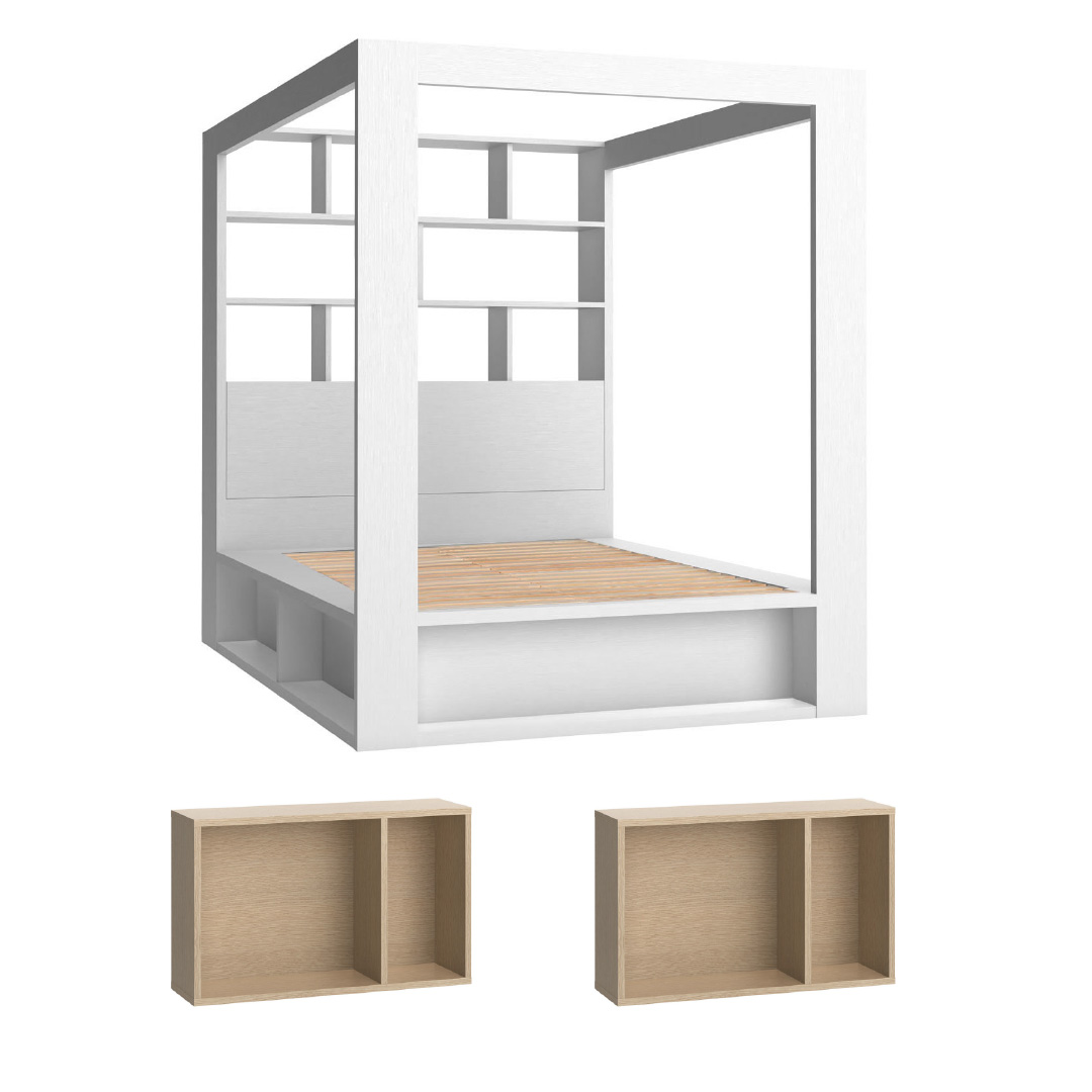 4You Double Canopy Bed combo