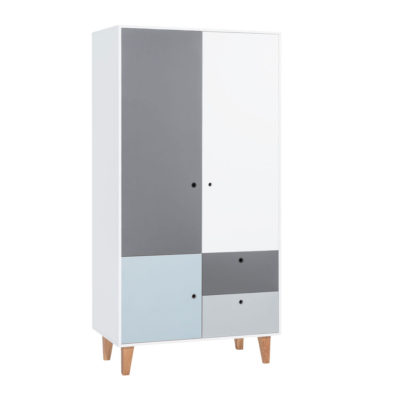 Vox Concept Two-Door Wardrobe - Sky Blue