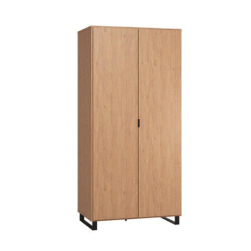 simple-2-door-wardrobe-oak-oak-black-blackskid