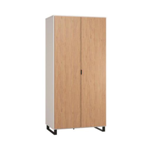simple-2-door-wardrobe-white-oak-black-blackskid