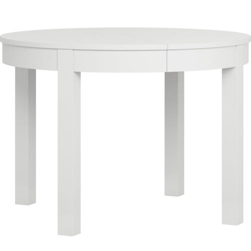 Simple Round Extendable Table - White