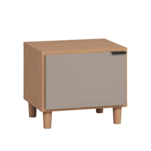 Simple Nightstand - Oak & Grey