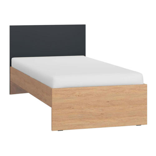 Vox Simple Single Bed - Black & Oak