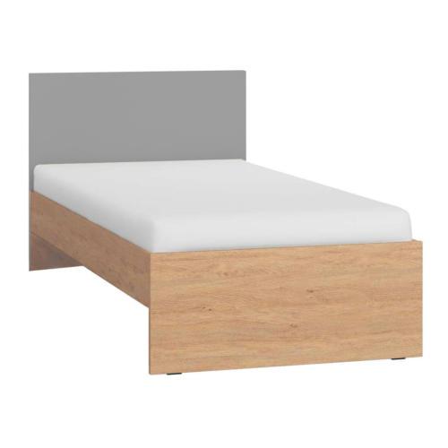 Simple Single Bed - Grey & Oak